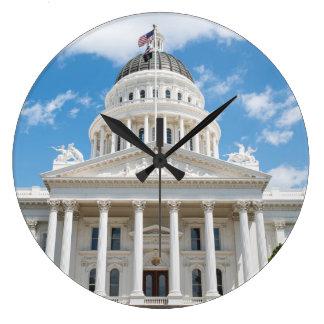 Kalifornien-Staats-Hauptstadt in Sacramento Große Wanduhr