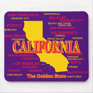 Kaliforniengroßstadt-und -stadtStaatsstolz-Karte Mauspads