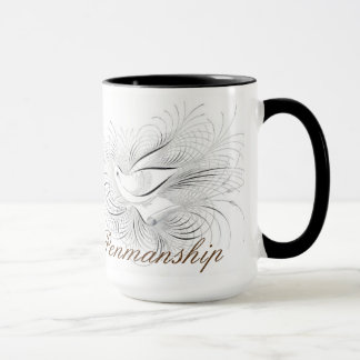 Kalligraphie-Vogel blühen Kaffee-Tasse Tasse