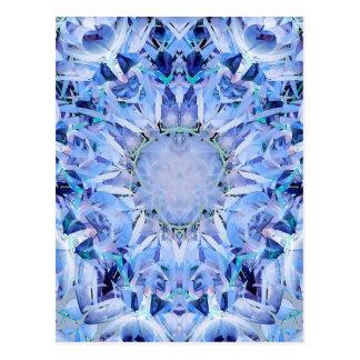 Kälte tont Fraktal-Muster Postkarte