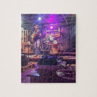 Kalter Indie Untergrund-Liveband-Sänger-Musiker Foto Puzzle