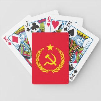 Kalter Kriegs-kommunistische Flaggen-Spielkarten Bicycle Spielkarten