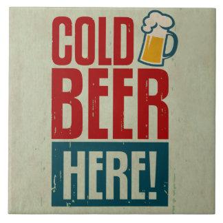 Kaltes Bier Große Quadratische Fliese