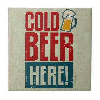 Kaltes Bier Kleine Quadratische Fliese