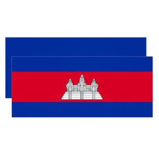 Kambodscha-Flagge 10,2 X 23,5 Cm Einladungskarte