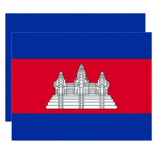 Kambodscha-Flagge 10,8 X 14 Cm Einladungskarte