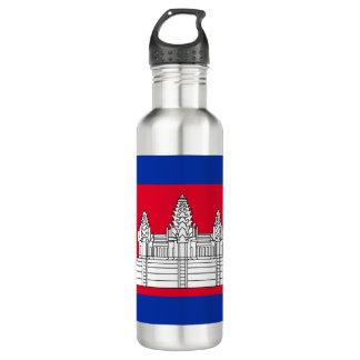 Kambodscha-Flagge Edelstahlflasche