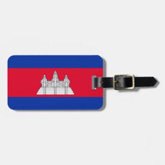 Kambodscha-Flagge Kofferanhänger