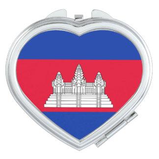 Kambodscha-Flagge Taschenspiegel