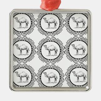 Kamel-Gruppe Silbernes Ornament