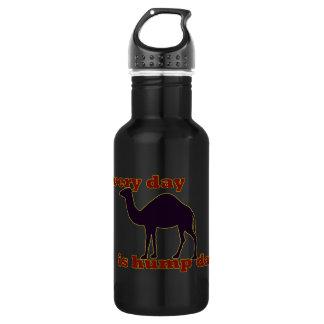"""Kamel """"jeden Tag ist Buckel-Tag """" Edelstahlflasche"""