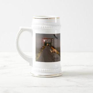 Kamele, die nach Märchenland gehen, Bierglas