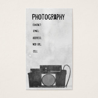 Kamera-Fotografie-Visitenkarte Visitenkarte