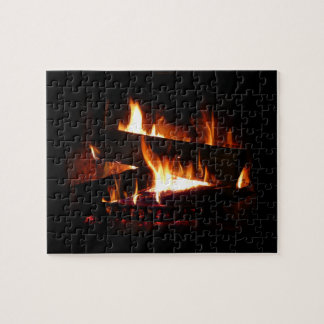 Kamin-warme Winter-Szenen-Fotografie Puzzle