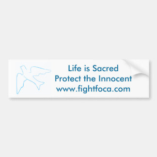 Kampf FOCA, gegen die Abtreibung Autoaufkleber