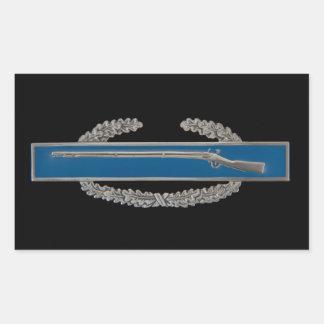 Kampf-Infanterie-Abzeichen (CIB) Rechteckiger Aufkleber
