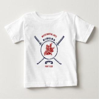 Kampf-VereinGrungedruck mit Samurai-Schwertern Baby T-shirt