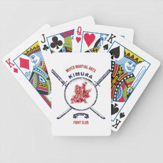 Kampf-VereinGrungedruck mit Samurai-Schwertern Bicycle Spielkarten