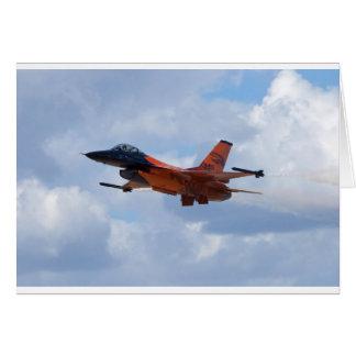 Kämpfender Falke F16 Grußkarte
