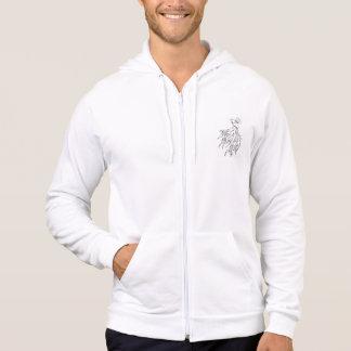 Kämpfer-Fisch-weißer Hoodie u. T - Shirts