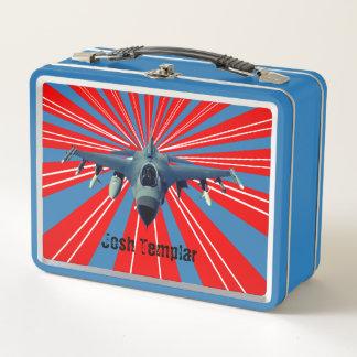 Kampfflugzeug Metall Lunch Box