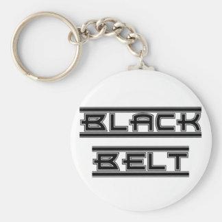 Kampfkunst-mutiger schwarzer Gürtel Keychain Schlüsselanhänger
