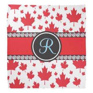 Kanada-Ahorn-Blatt-abstraktes Diamant-Monogramm Kopftücher