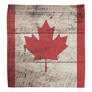 Kanada-Flagge auf altem hölzernem Korn Kopftücher