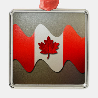 Kanada Flagge-Chrom durch Shirley Taylor Silbernes Ornament