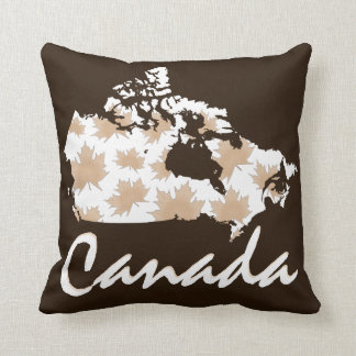 Kanada-Karten-Ahornspaß Taupe-Kissenbraun Kissen