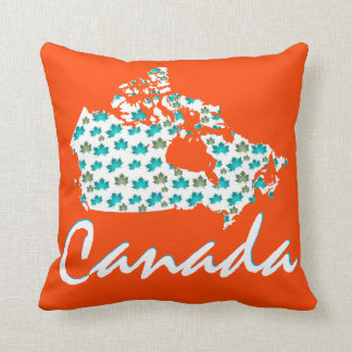Kanada-Karten-Ahornspaß Taupe-Kissenorange Kissen