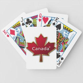 Kanada-Tag Bicycle Spielkarten