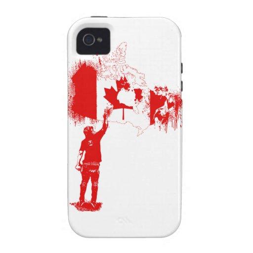 Kanadatagger-Rot Vibe iPhone 4 Case