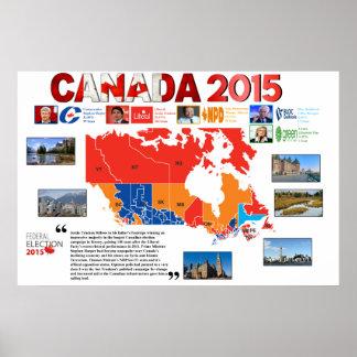 Kanadawahl-Plakat 2015 Poster