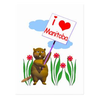 Kanadische Biber-Lieben Manitoba Postkarte