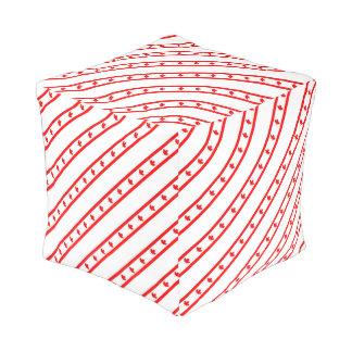 Kanadische Streifenflagge Kubus Sitzpuff