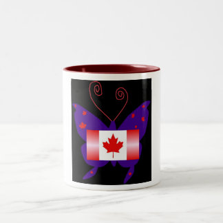 Kanadischer Diva-Schmetterling Tee Haferl
