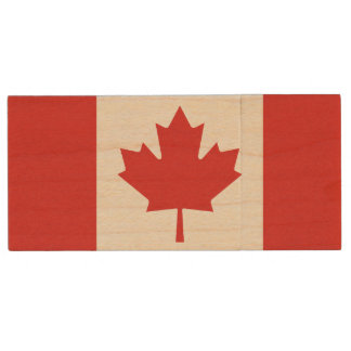Kanadischer Flagge USB-Blitz-Antrieb Holz USB Stick 2.0