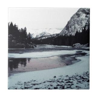 Kanadischer Winter Kleine Quadratische Fliese