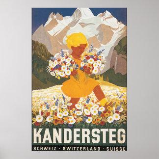 Kandersteg die Schweiz Vintages Reise-Plakat Poster
