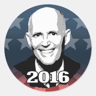 KANDIDAT 2016 RICK SCOTT RUNDER AUFKLEBER - kandidat_2016_rick_scott_runder_aufkleber-rce70a712acb54be8bb254e2bc667fd70_v9wth_8byvr_324