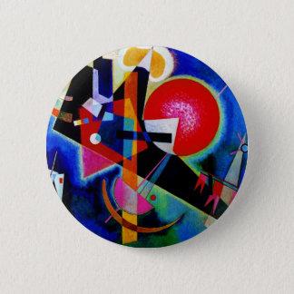 Kandinsky in der blauen abstrakten Malerei Runder Button 5,7 Cm