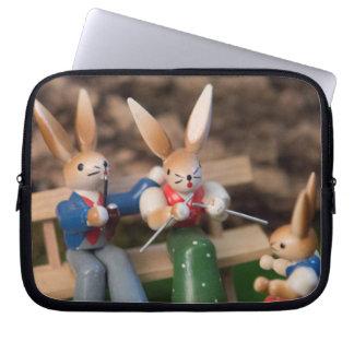 Kaninchen-Familie Ostern Computer Sleeve Schutzhülle