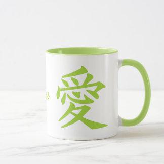 Kanji-Liebegewohnheits-Tassen Tasse
