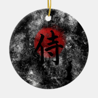 Kanji-SamuraiGrunge 2 Keramik Ornament