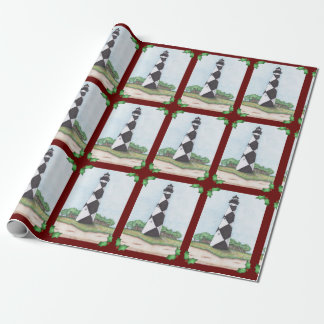 Kap-Ausblick-Leuchtturm-WeihnachtsPackpapier Geschenkpapier