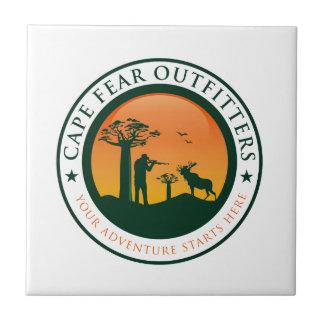 Kap-Furcht-Ausstatter-Logo Kleine Quadratische Fliese