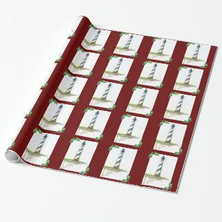 Kap Hatteras Leuchtturm-WeihnachtsPackpapier Geschenkpapier