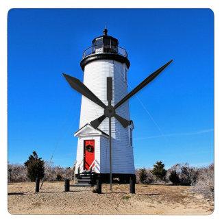 Kap Poge Leuchtturm, Massachusetts Chappaquiddick Quadratische Wanduhr