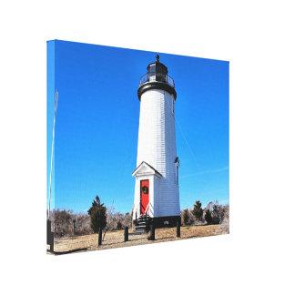 Kap Poge Leuchtturm, Massachusetts-Leinwand-Druck Leinwanddruck